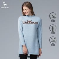 【Chamois】中高領鏤空造型針織衫(天空藍)
