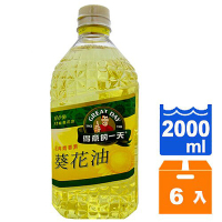 得意的一天 經典青春葵花油 2L (6入)/箱【康鄰超市】