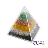 【鑫運來】五行金字塔擺件(能量超強 值得收藏 9cm)