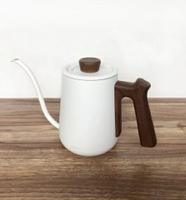 金時代書香咖啡 Minos  有蓋手沖壺 600ml 白木紋色 Minos-POC-600-CPWH