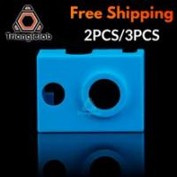 Trianglelab Cao Cấp Chất Lượng Hộp Mực Nóng Bock Vớ Silicon V6 Tất Cho PT100 Heatblock Cho V6 Rồng Hotend Vòi Phun