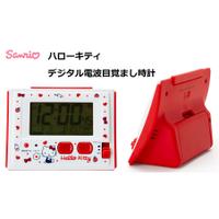 [猴吉本舖][現貨]日本 正版 三麗鷗 凱蒂貓 Kitty 可愛 造型 音樂 多功能 鬧鐘 電子鐘 時鐘