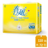 【週期購】春風抽取式衛生紙-山茶花柔韌感-110抽*12包*6串