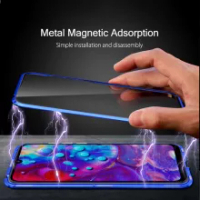 For Vivo V21 5G Metal Bumper Magnetic Case For Vivo V21 5G 360 Shockproof Glass Cover For Vivo V21 Coque V 21 Magnet Funda Shell