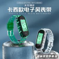 錶帶 適用小米手環5表帶 小米3/4/6手環替換帶通用NFC版腕帶透明冰川個性潮智能運動  【 雙十一節日狂歡購】