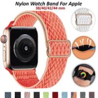 ไนลอนสำหรับ Apple Watch Band 44มม.40มม.42มม.38มม.สำหรับ IWatch Series 6 5 SE 4 3 2นาฬิกาสายรัดสบาย