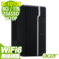【Acer 宏碁】VS2670G 無線文書電腦 i3-10100/8G/256SSD+1TB/WIFI6/W10P(四核心商用電腦)