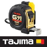 【Tajima 田島】專業包膠捲尺 7.5米x25mm/公分 附安全扣/磁鐵(SFGLM25-75BL)