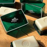【Hermes 愛馬仕】D'Orange Verte橘綠之泉香皂50g(含盒子)