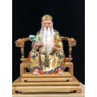 1尺3拖1尺6 含越檜拖椅 南體金身神像 福德正神 土地公 樟木實木雕刻
