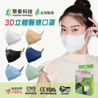 【聚泰科技】3層高效防護 KN95 立體醫療口罩 黑色(10入/盒、高品質水駐極熔噴布)