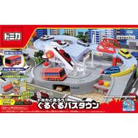 大賀屋 日貨 轉轉巴士站 Tomica 多美汽車 兒童玩具 玩具 巴士 Takara Tomy 正版 L00011260