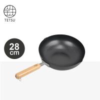 日本TETSU IRON WOK 木把鐵炒鍋-28公分