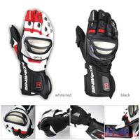日本komine GK-212鈦合金競賽型皮長手套可觸控防風防滑防摔手套