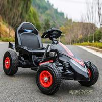 兒童電動車四輪卡丁車可坐男女寶寶遙控玩具汽車小孩充氣輪沙灘車MBS「雙十一購物節 預購 可開發票」