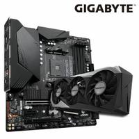 【技嘉顯卡組合品】RTX™ 3070 GAMING OC 8G rev.2.0 顯示卡(鎖算力) + B550M AORUS PRO-P 主機板 *2