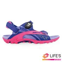 【LOTTO】運動鞋 兒童鞋 排水磁扣涼鞋(紫-LT9AKS0507)
