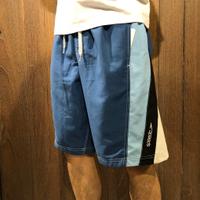 美國百分百【全新真品】 Speedo 伸縮鬆緊帶 海灘褲 海灘衝浪褲 運動短褲 寶藍 雙層內網 男 藍色 S號 A968