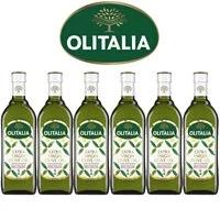 【Olitalia奧利塔】超值特級初榨橄欖油禮盒組(1000ml x 6瓶)