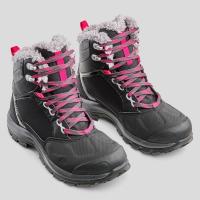 迪卡儂女-16°C防水防滑登山雪靴 QUECHUA SH520女用登山鞋 9成新
