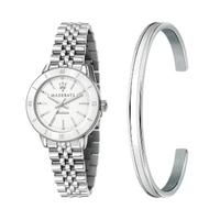【MASERATI 瑪莎拉蒂】SUCCESSO LADY 光動能經典手環套組腕錶32mm(R8853145507)