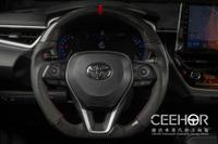 [細活方向盤] 正碳纖維紅環款 RAV4 ALTIS CAMRY Corolla CROSS SPORT CC TOYOTA 豐田 變形蟲方向盤 方向盤 台灣製造 造型方向盤