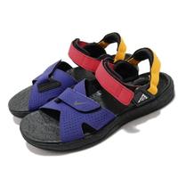 【NIKE 耐吉】涼鞋 ACG Air Deschutz 男鞋 輕便 舒適 戶外 魔鬼氈 夏日 穿搭 黑 藍(CT3303-400)