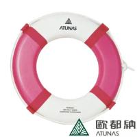【ATUNAS 歐都納】雙色安全游泳救生圈(4613A紅/超白/泳渡溪潭/海邊水上浮具/魚雷浮標/急救圈)