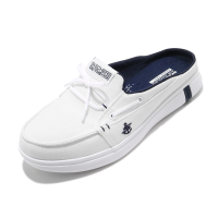 Skechers 穆勒鞋 Glide Ultra-Sail 白 深藍 女鞋 套入式 帆船鞋【ACS】 16121-WNV