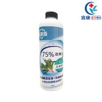 淨護盾75%酒精清潔液+茶樹精油配方-補充瓶500m【富康活力藥局】