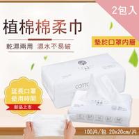 【CS22】一次性口罩防護內墊棉柔巾(200張/2包)