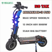 REALMAX SN-13 PLUS Powerful 60v 8000w Dual Motor 13inch Fat Tire Foldable 2 Wheels E Electric Scooter for Adults