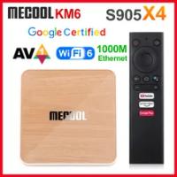 Mecool KM6 Deluxe Edition ATV Amlogic S905X4 Smart TV Box Android 10 4GB 64GB 2.4G/5G WiFi 4K Set Top Box KM6 Classic 2GB 16GB