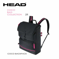 【HEAD】限量款 2支裝網球拍袋 Coco Backpack 後背包 適壁球羽毛球拍(283621)