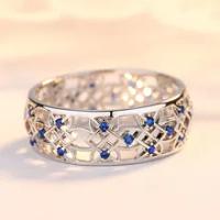 Beiver Cubic Zirconiaแหวนกลวงสองชิ้นแหวนเครื่องประดับทองคำขาวแฟชั่นยอดนิยมRhinestoneงานแต่งงานแหวนสำหรับfemal