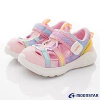 【MOONSTAR 月星】速乾機能休閒涼鞋系列(CRC22904粉-15-21cm)
