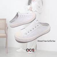 Skechers 休閒鞋 Street Trax 女鞋 白 全白 帆布 穆勒鞋 【ACS】 155386WHT