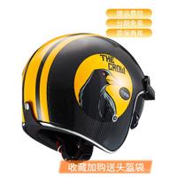 【爆款 靚貨】現貨torc碳纖維頭盔摩托車男3c認證電動車安全帽夏季女哈雷復古半盔灰