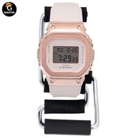CASIO卡西歐G-SHOCK金屬復古小方塊手錶女款GM-S5600-1/S5600PG-4 oYLK