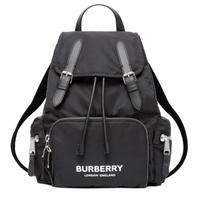 【BURBERRY 巴寶莉】80212611 經典The Rucksack Vintage中型軍旅後背包(黑色)