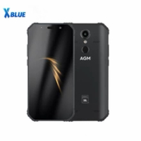 "AGM A9 JBL Co-Branding 5.99"" 4G+32G 64GB Android 8.1 Rugged Phone 5400mAh IP68 Waterproof Smartphone Quad-Box Speakers NFC"