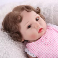 43 Cm Full Body Silikon Reborn Boneka Vinil Nyata Gadis Reborn Bayi Boneka dengan Lucu Mewah Mainan LOL Boneka Mainan anak-anak Hadiah Fashion