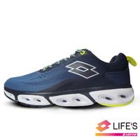 【LOTTO】男 SPEAR 風動4.0跑鞋(灰藍-LT0AMR2136)