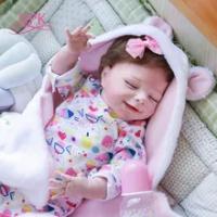 NPK 22Inch Bebe Boneka Reborn Bayi Tidur April Selimut Full Body Silikon Lembut Sentuhan Nyata Koleksi Berkualitas Tinggi seni Boneka