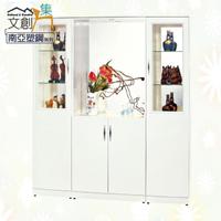【文創集】樂蒂 環保5.7尺南亞塑鋼玻璃多功能雙面櫃/玄關櫃