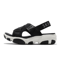 Skechers 涼鞋 Daddy-O-Dibs 黑 白 彈力帶 女鞋 涼拖鞋 基本款【ACS】 163051-BLK
