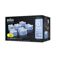 [2美國直購] Braun 德國百靈 刮鬍刀清潔液 6入 CCR6 Clean & Renew Refill Cartridges
