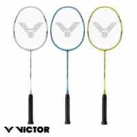 【VICTOR 勝利體育】AURASPEED 神速 穿線拍 4U(ARS-3100 白/黃/藍)