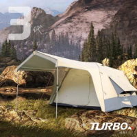 【Turbo Tent】Turbo Lite 300-第3代 一房一廳八人帳篷(30秒專利快速帳篷 速搭帳 一房一廳 全遮光 類黑膠)