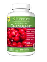 刷卡滿3千回饋5%點數 蔓越莓膠囊  美國好市多trunature Pacran Cranberry 650 mg.140顆 『預購』 